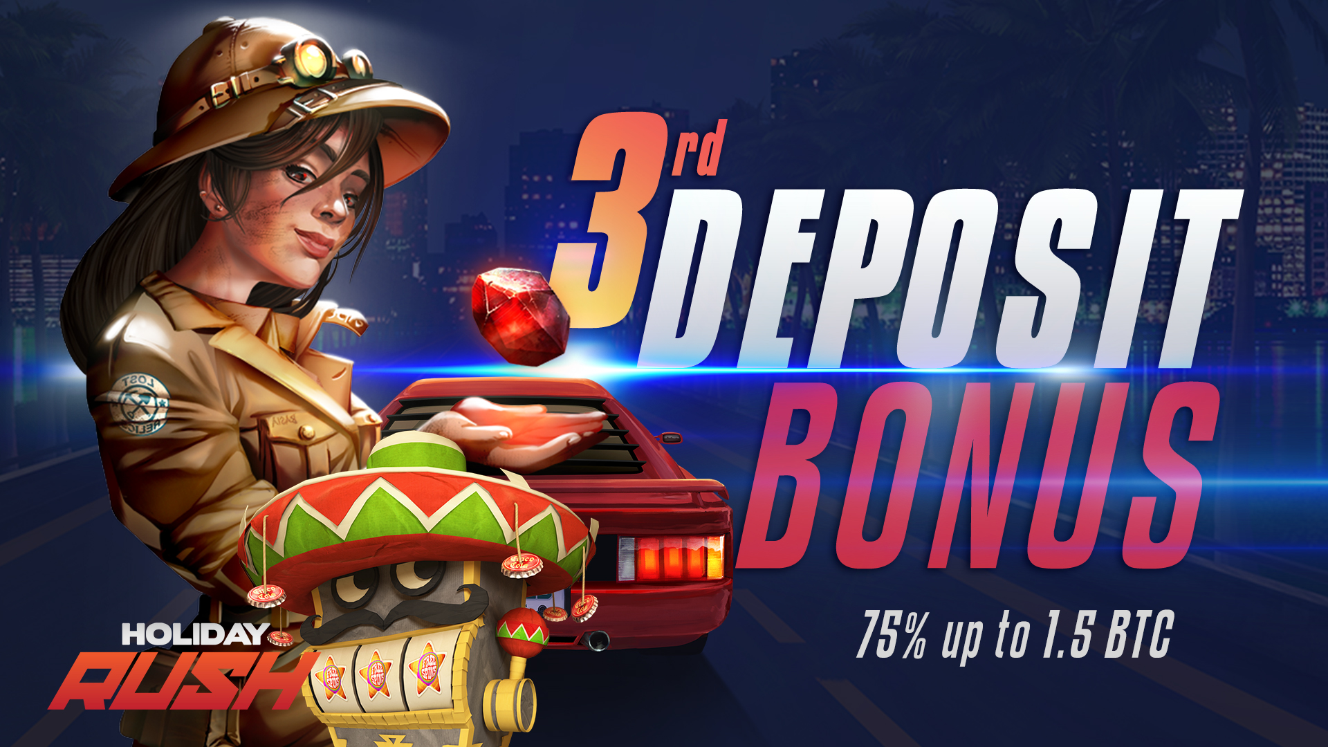 Exclusive 75% up to 1.5 BTC Third Deposit Bonus at mBitcasino