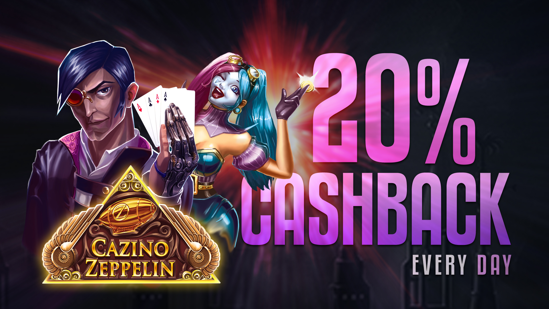 Daily Cashback up to 20%, only at mBitcasino