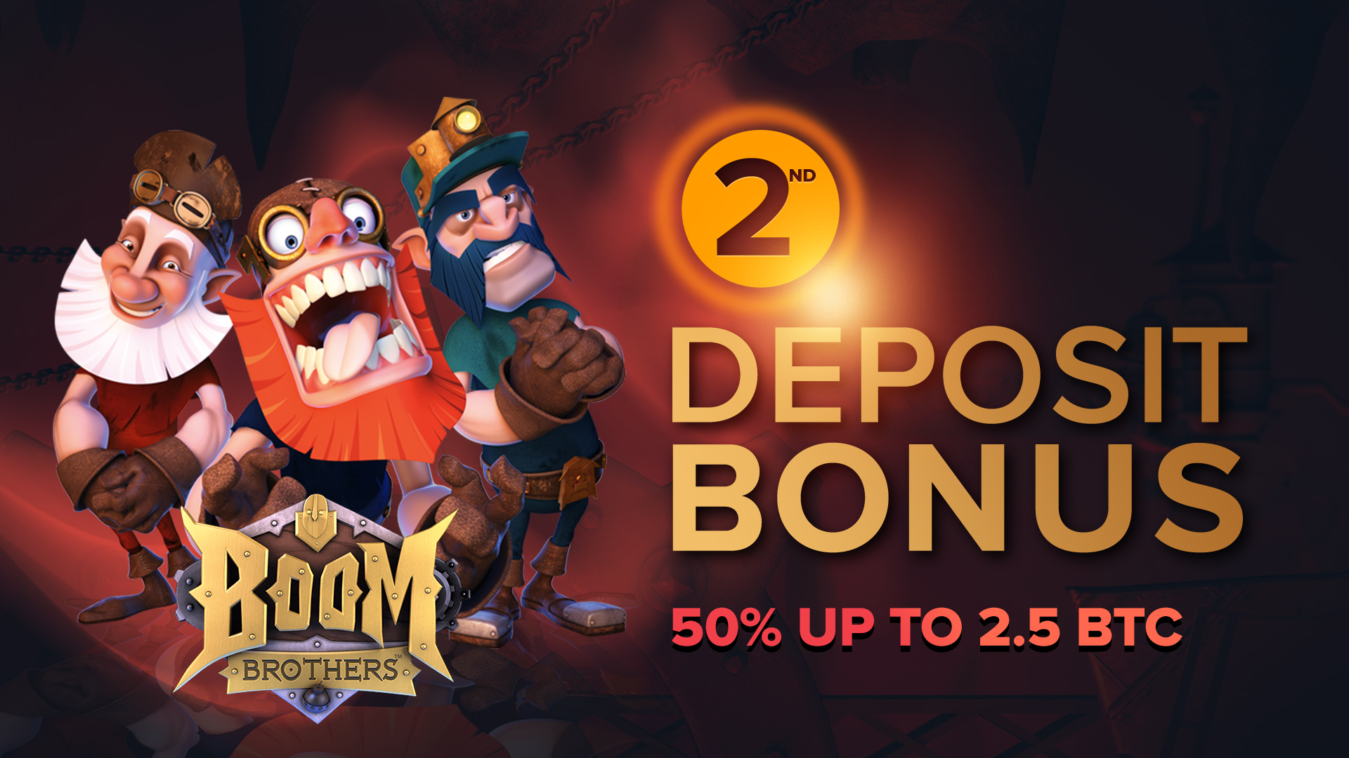 Exclusive 50% up to 2.5 BTC Second Deposit Bonus at mBitcasino